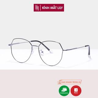 Gọng kính cận nữ Lilyeyewear kim loại , mắt đa giác thời trang , nhiều màu sắc lựa chọn - Y2968