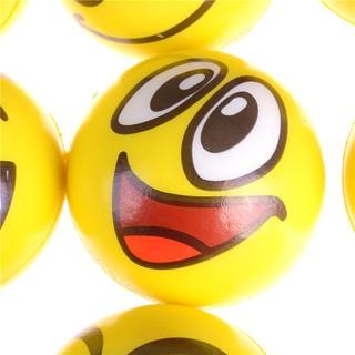 Emoji Face Yellow Foam Soft Stress Novelty Fun Kids Toy Balls 10cm