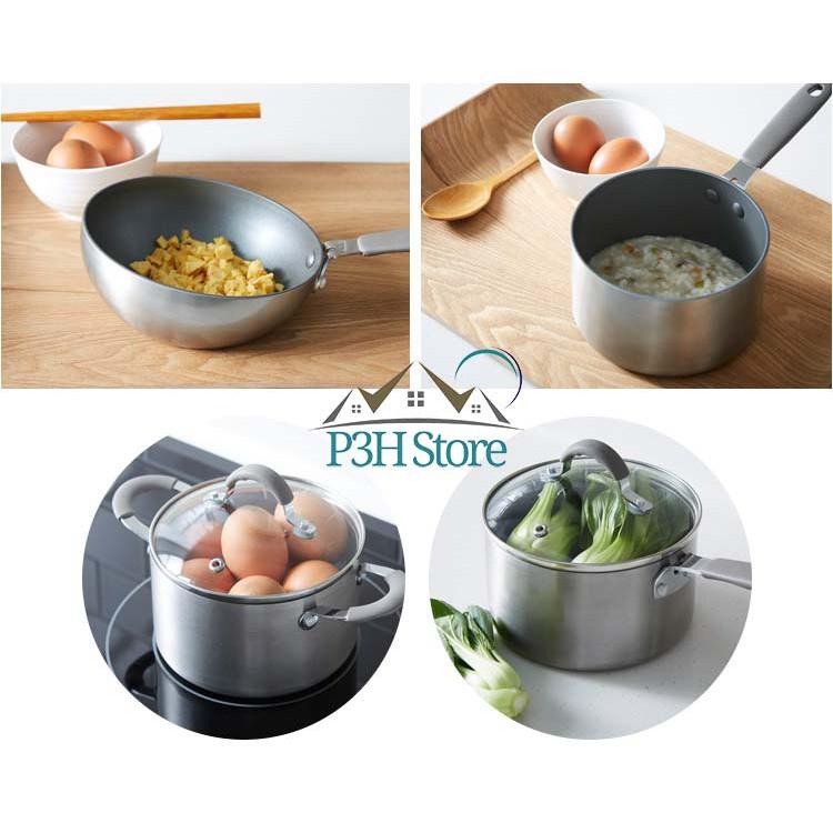 Dòng nồi chảo mini Handy Cook Lock&Lock , ko sử dụng bếp từ