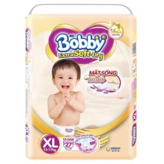 Tã dán BOBBY EXTRA Soft Dry cao cấp L30/XL27