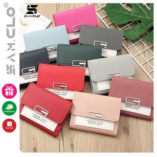 Ví nữ ngắn - bóp da mini cầm tay thời trang hàn quốc bỏ túi nhiều ngăn đựng giấy tờ, thẻ ngân hàng,card, CMND CODE 125 thumbnail