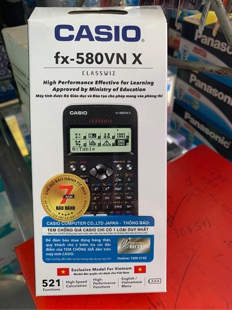 MÁY TÍNH Casio FX 580VNX (Bảo Hành 07Năm) Casio 580VN X