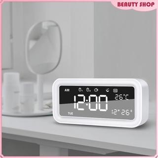 Alarm Clock LED Display Digital Alarm Clock Snooze Night Light Clock with Date Calendar Temperature for Bedroom Home Office Travel