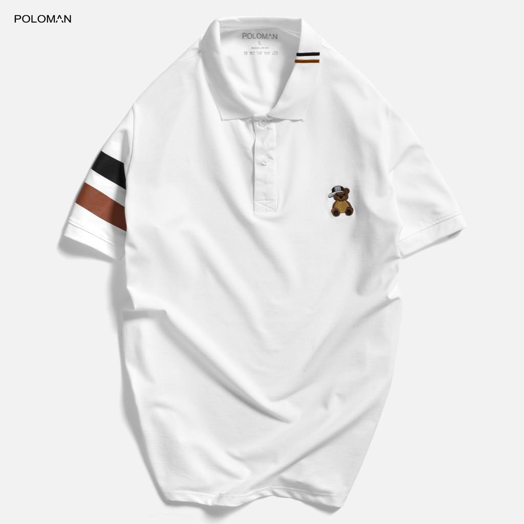 Áo thun Polo nam cổ bẻ TEDI vải cá sấu Cotton xuất xịn, chuẩn form,sang trọng-lịch lãm P61 - POLOMAN