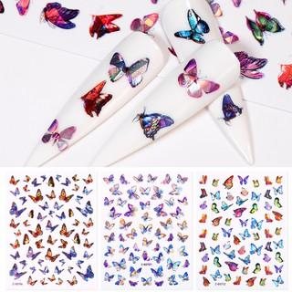 Tờ nhãn dán trang trí móng tay họa tiết bướm sành điệu