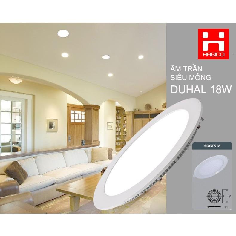 Bóng đèn âm trần Duhal 18W SDGT518 KDGT518