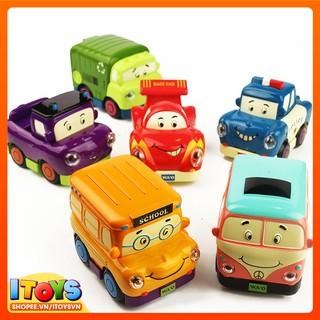6 xe ô tô có đèn, 13.5cm, mô hình xe ô tô đồ chơi cho trẻ em ITOYS