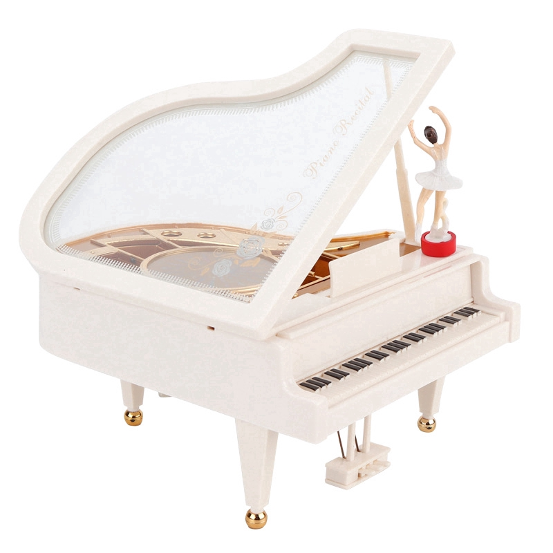 Mechanical Classical Ballerina Dancing Girl Dancing on The Piano Music Box