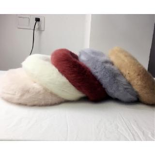 Mũ nồi lông thỏ trắng dễ thương