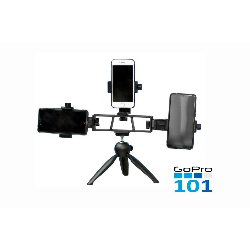 Khung kẹp điện thoại hình chữ nhật đa chức năng cho chân máy ảnh chất liệu nhựa ABS