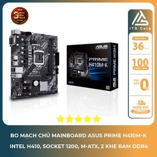 Bo mạch chủ - Mainboard Asus Prime H410M-K (Intel H410, Socket 1200, M-ATX, 2 Khe RAM DDR4) thumbnail