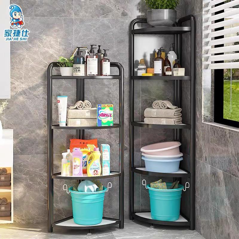 ⚡HÀNG CÓ SẴN ⚡Kệ góc nhà tắm 3-4-5 tầng, kệ gấp gọn đa năng nhà bếp, kệ để đồ nhà bếp gấp gọn, sơn tĩnh điện