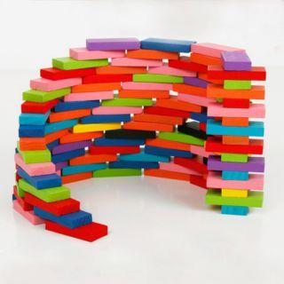 Đồ chơi gỗ domino 120 thanh đủ màu sắc