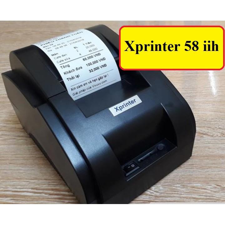 Máy In Hoá Đơn Xprinter 58IIH + Tặng kèm giấy in nhiệt