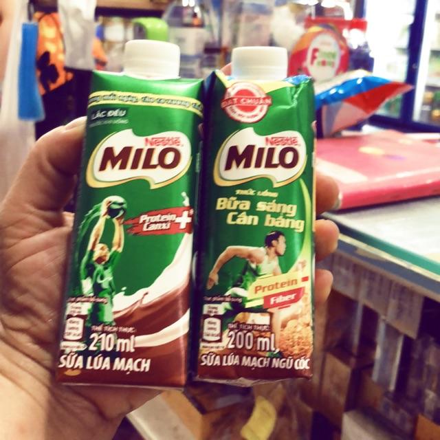 Sữa milo  sữa lúa mạch - lúa mạch ngũ cốc 210 ml mẫu mới