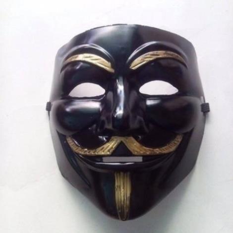 dcgr DCGR Mặt nạ hacker đen hóa trang ( dcgr )