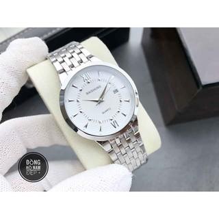 đồng hồ nam Baishuns BS05 mặt trắng chống nước chống xước,tặng kèm vòng tì hưu