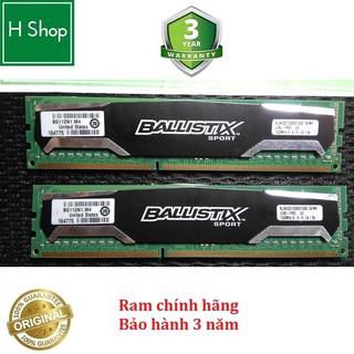 Ram tản nhiệt 8Gb DDR3 bus 1600 - 10600u, 1 cặp 2x4Gb, hiệu Crucial Ballistix chính hãng, bảo hành 3 năm thumbnail