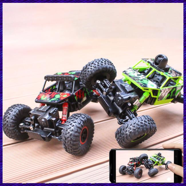 Large Rechargable RC Climbing Rock Car Racing Vehicle with Remote Control for Boys Kids