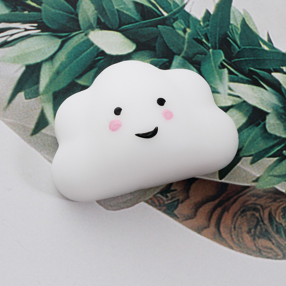 Soft Silicone Squishy Toy Squish Squeeze Hand Fidget Toy – Cute Cloud, Size: 5 x 3.3cm