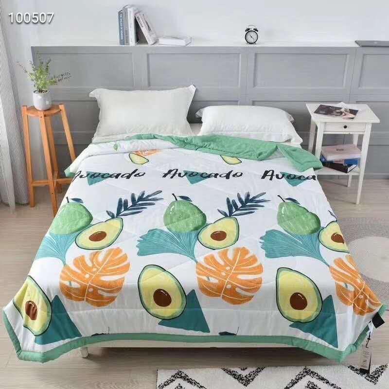 Chăn hè đũi Zara Home siêu mềm mịn 2mx2m2-Free ship-họa tiết bơ xanh