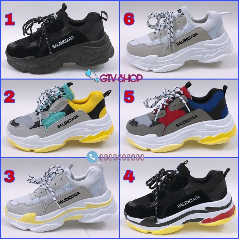 [TẶNG HỘP VÀ LỌ TẨY] Giày thể thao nam nữ ulzzang TRIP S  (6 mẫu), size 36 đến 43.    .