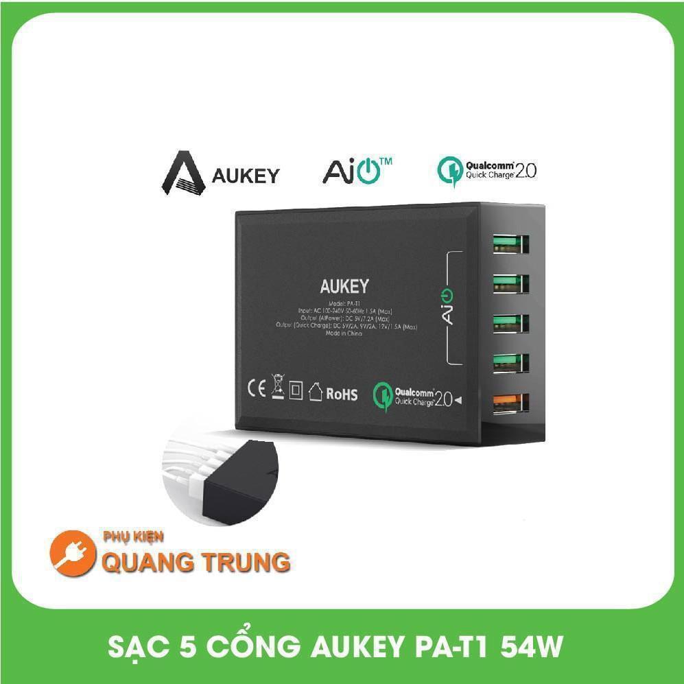 Sạc nhanh 5 cổng Aukey 2.0 PA-T1- 54W cực khỏe !