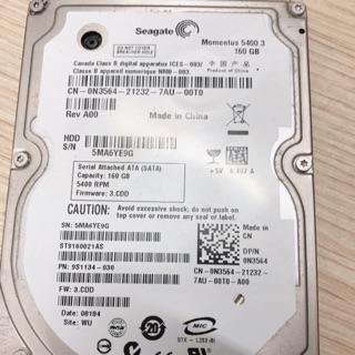 Ổ cứng laptop 160gb cũ có sẵn win