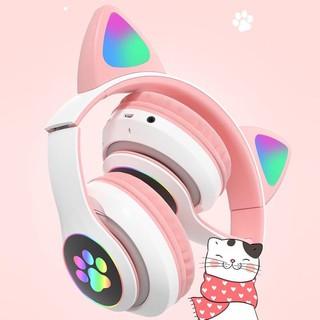 Chụp tai nghe head phone xin kute mèo kity âm thanh chất lượng cực hay cao cấp