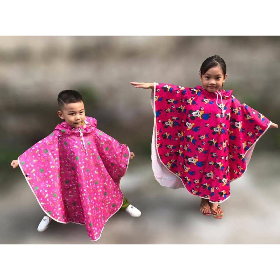 Áo mưa cánh rơi cho bé từ 3 đến 14 tuổi