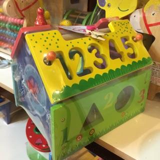 Nhà thả số & hình học – đồ chơi gỗ – hình thật