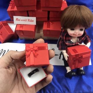 Hộp quà mini đựng nhẫn hoặc dùng cho trang trí nhà búp bê Barbie, BJD tỉ lệ 1 8 thumbnail