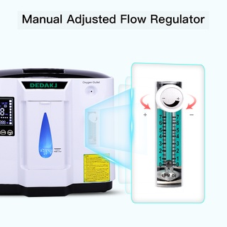 Máy tạo oxy gia đình di động DEDAKJ DE-1A 1-7Lít, Hàng chính hãng tặng máy đo oxy trong máu, Gía tốt nhất thị trường thumbnail