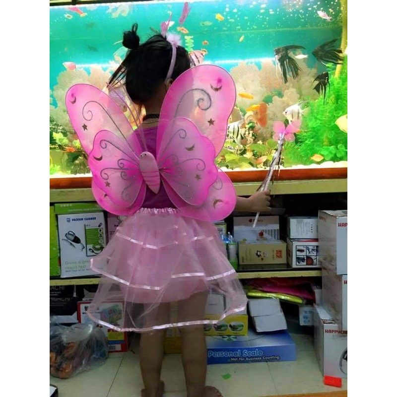 Áo cánh bướm cho con gái vui trung thu