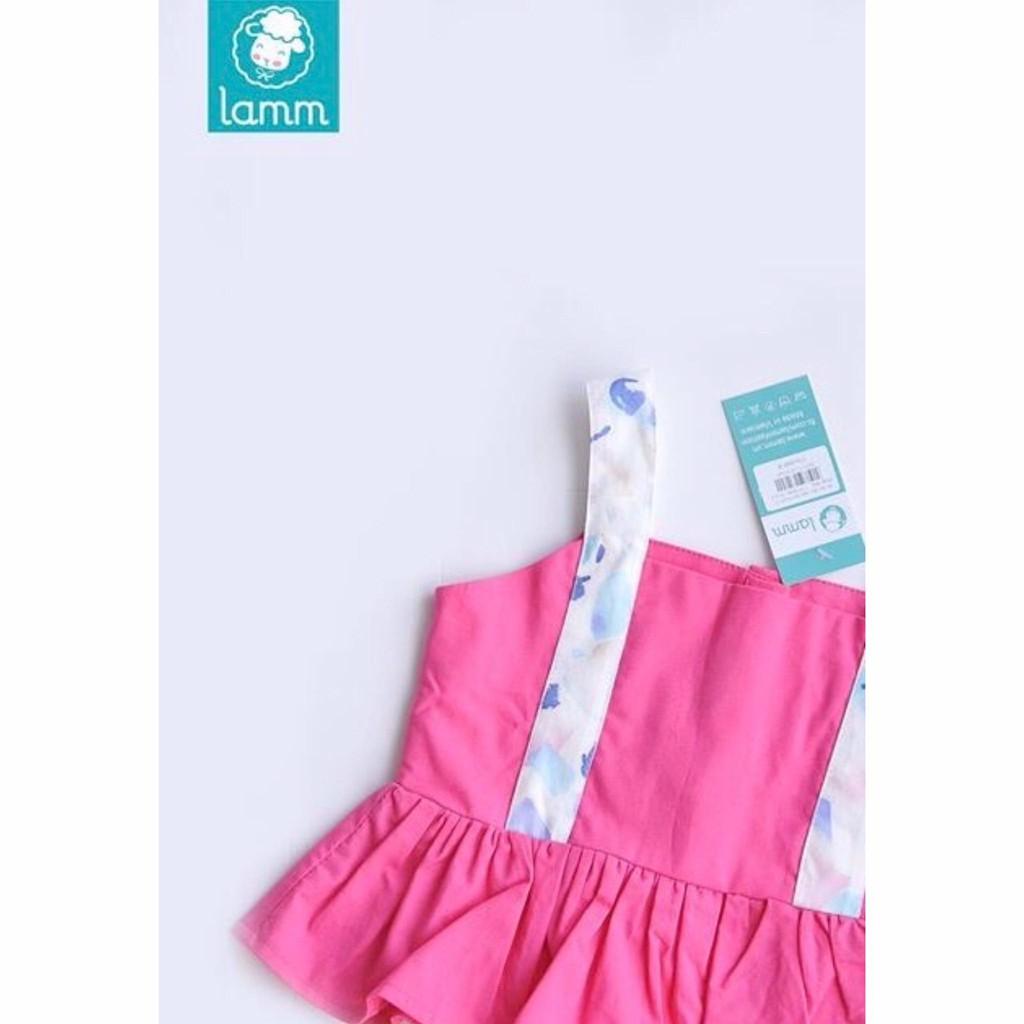 Áo hai dây bản 3cm đuôi cá hồng đậm Lamm