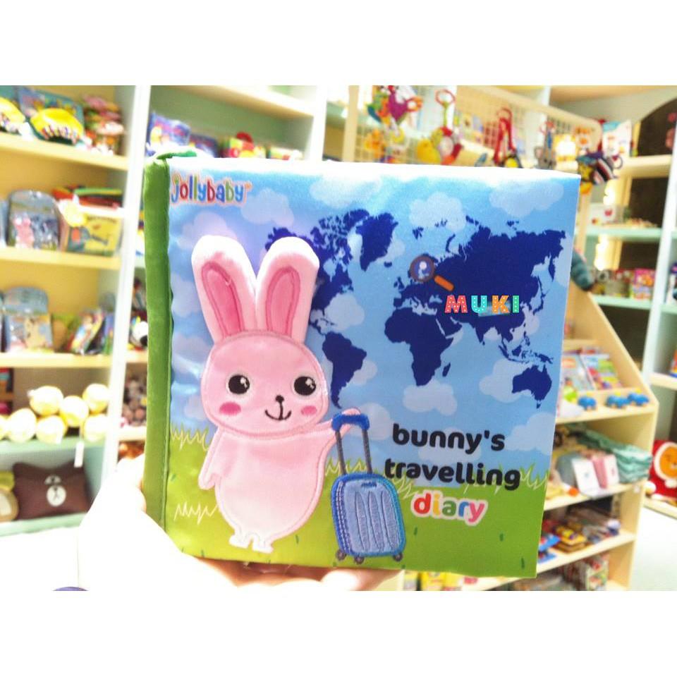 Sách vải Jollybaby – Bunny's travelling diary