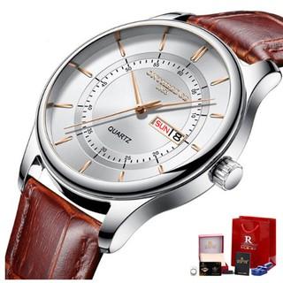 Đồng hồ nam Ontheedge dây da RZY029 fullbox (kèm 2 pin)