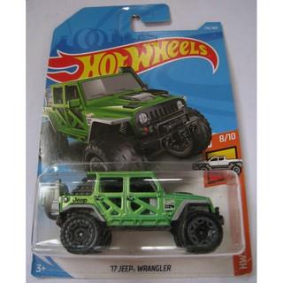 Xe Hot Wheels '17 Jeep Wrangler FJY56