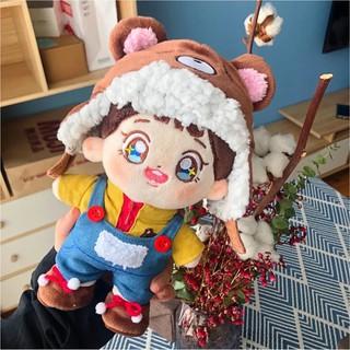 Set gấu nâu cho doll 20cm (outfit doll)