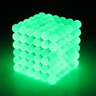 Fluorescent Green Puzzle Cube 3mm Magnetic Ball Decompression Toy DIY Toy