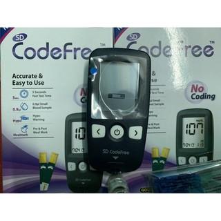 Máy đo đường huyết sd code free tặng 25 que test+pin