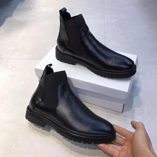 [Mã FASHIONRNK giảm 10K đơn 50K] giày boot nam chelsea da nguyên tấm cao cấp thumbnail