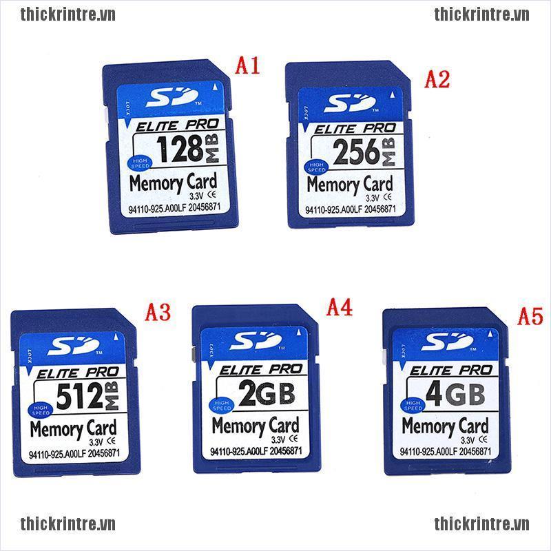 Thẻ nhớ SD kỹ thuật số dung lượng 128MB 256MB 512MB 2GB 4GB