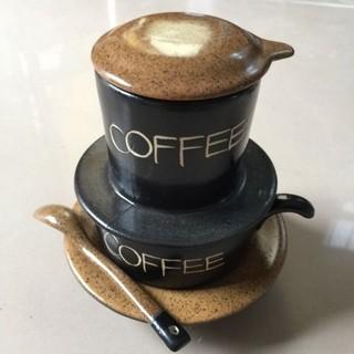 ( tặng tách)Bộ phin pha cafe.Hàng sứ Bát Tràng. Màng lọc thumbnail