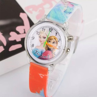 Đồng hồ Elsa & Anna dây silicon phát sáng nhiều màu sắc cho bé gái BBShine DH013 thumbnail