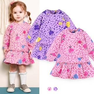 Váy nỉ da cá hoạ tiết hoa tuy lip MM. HA0832 (2 màu)