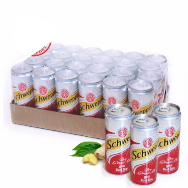 Nước ngọt có gas vị gừng Schweppes Ginger Thùng 24lon*330ml