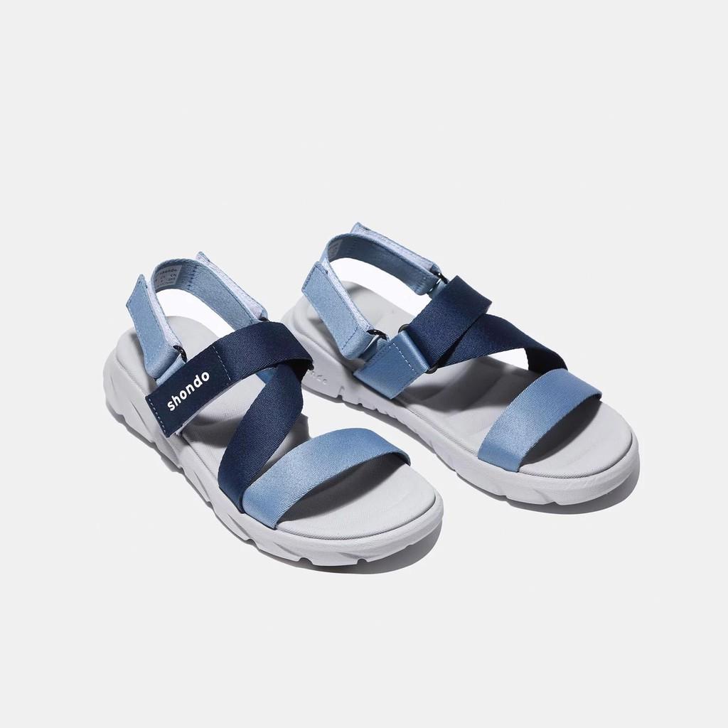 Giày sandal F6 Shondo Sport đế xám ombre xanh dương - F6S2130