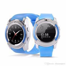 Đồng hồ thông minh mặt tròn cho trẻ đi học có khe sim ZV88 nghe gọi 2 chiều (xanh dương)