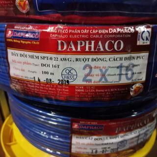Dây điện đôi mềm 2x16 Daphaco -cuộn 100m thumbnail